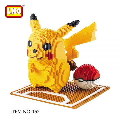 LNO nanoblocks pokemon series pikachu big pokeball