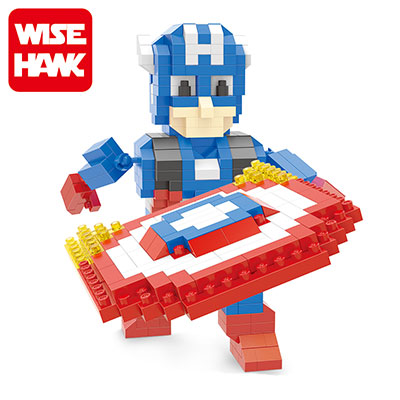 Wise hawk nanoblocks avengers captain america